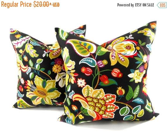 PILLOW SALE Outdoor Pillow cover. Set of 2 by TwistedBobbinDesigns