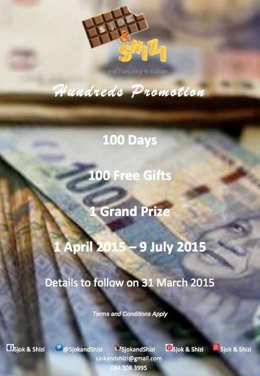 100 Days 100 Free Gifts 1 Grand Prize 1 April 2015 - 9 July 2015