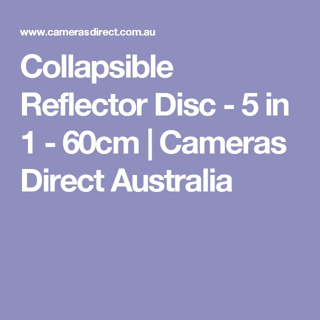 Collapsible Reflector Disc - 5 in 1 - 60cm | Cameras Direct Australia