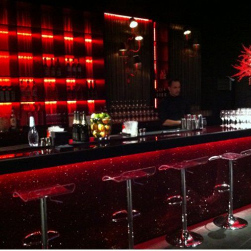 Backed glittered bar with ice bar stools Contemporary Furniture Club Starlight Design