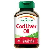 Cod Liver Oil: take the capsules, or for children, take oil plain or mixed in milk. Cod Liver oil is an excellent source of omega 3 fatty acids,  supports cardiovascular health, and is a great source of Vitamin A and D.