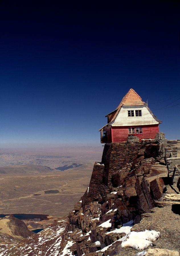 The highest ski resort at Chacaltaya in Bolivia at 5200 metres.