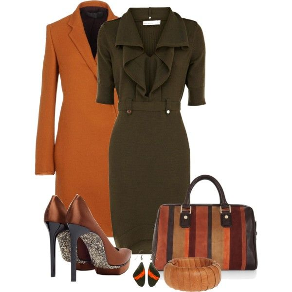A fashion look from January 2013 featuring Karen Millen dresses, Haider Ackermann coats and Lanvin pumps. Browse and shop related looks.