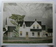 $424.99  Group OF Seven Signed Limited Edition Village House BY A J Casson |