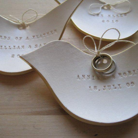 Golden Dove Ring Bearer Bowl by @palomasnest