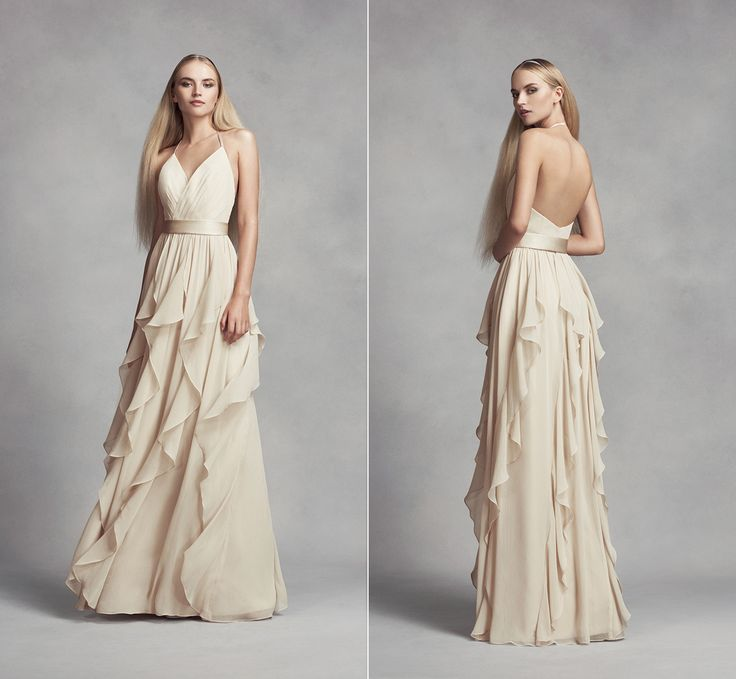 Your Friends Won't Hate You If You Put Them in Vera Wang's Affordable New Bridesmaids Dresses - WHITE By Vera Wang Bridesmdaid Dress from InStyle.com