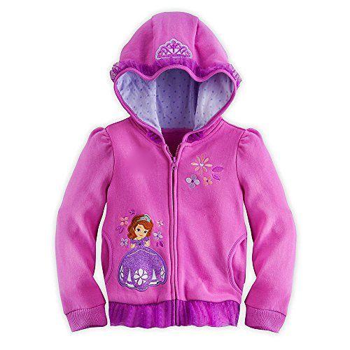 Disney Store Sofia the First Hoodie Sweatshirt Jacket Girls Size XS 4 4T @ niftywarehouse.com #NiftyWarehouse #Disney #DisneyMovies #Animated #Film #DisneyFilms #DisneyCartoons #Kids #Cartoons