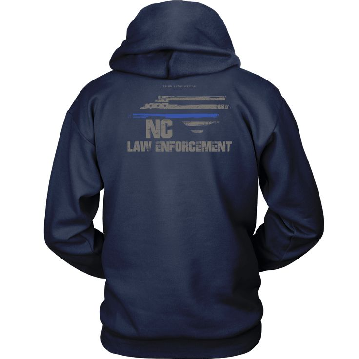 North Carolina Law Enforcement Thin Blue Line Hoodie