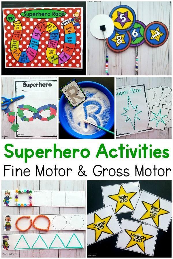Superhero Activities Fine Motor And Gross Motor Planning Ideas Fine Motor Skills Activities Fine Motor Activities For Kids Preschool Activities