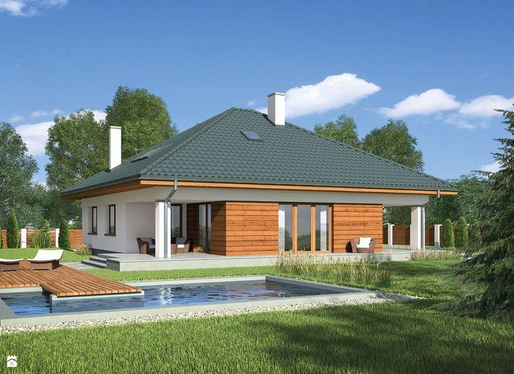Projekt Domu - Murator M199 - Pastelowy - zdjęcie od Murator PROJEKTY - Domy - Styl Nowoczesny - Murator PROJEKTY