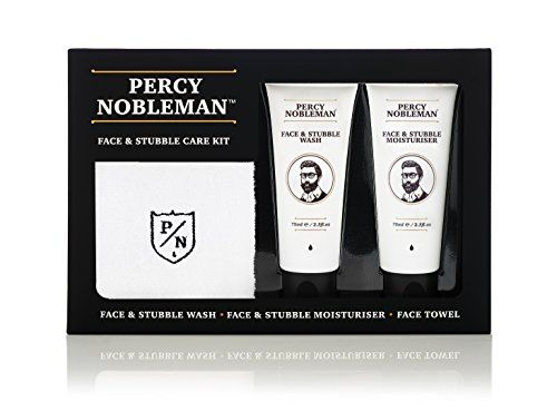 #Face & #Stubble #Care #Kit by #Percy #Nobleman, A Men's #Gift #Set For #Skin #Care A men's #gift #set purposely designed for use on light to heavy #stubble. Helps soften hairs and soothe the #skin. Light Peppermint & Cucumber scent leaves #skin feeling fresh and invigorated. https://skincare.boutiquecloset.com/product/face-stubble-care-kit-by-percy-nobleman-a-mens-gift-set-for-skin-care/