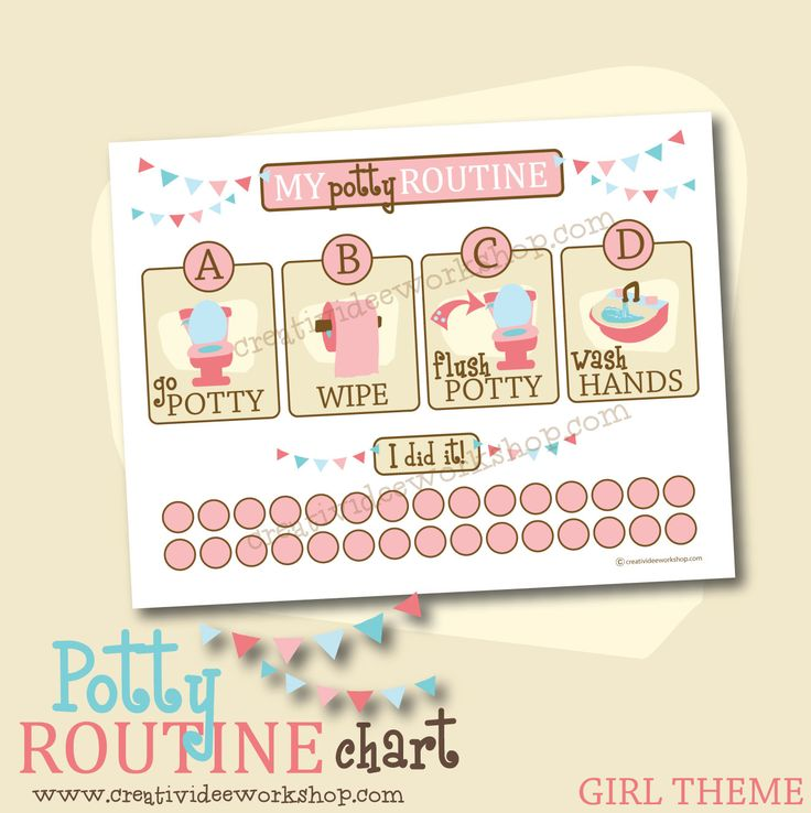 potty training girls chart