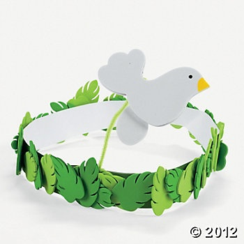 Noah sends out the dove headband Craft --- Make it - Don't buy it