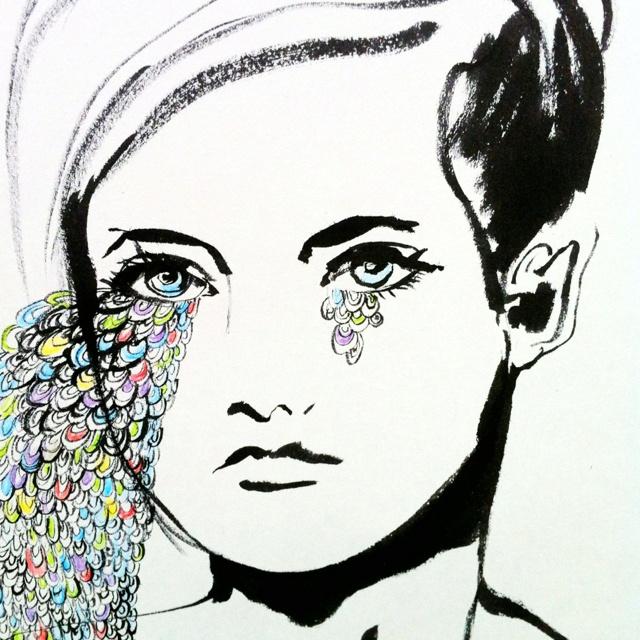 """""""tror jeg bliver hjemme idag"""" Tegning af Charlotte Clausen www.cclausen.mono.net"""