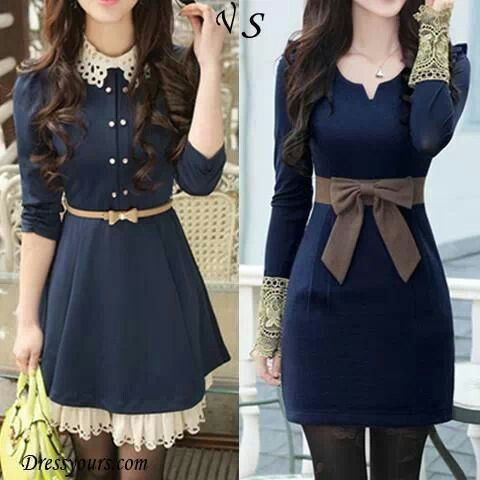 Lovely blue dress with long sleeves