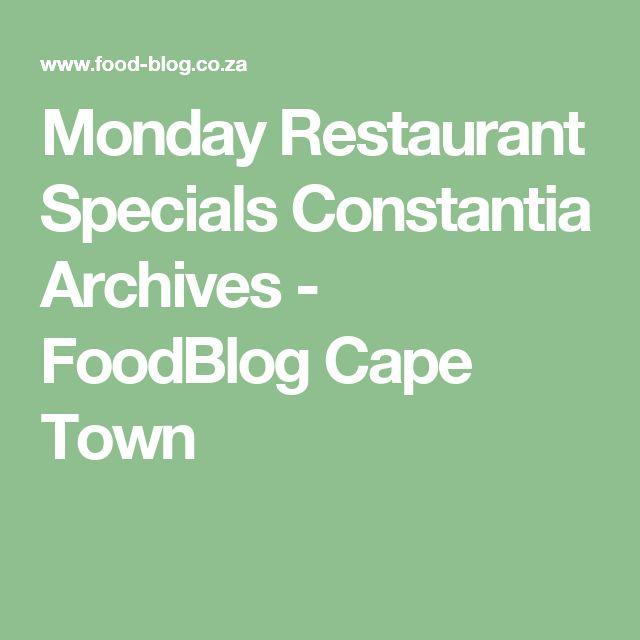 Monday Restaurant Specials Constantia Archives - FoodBlog Cape Town