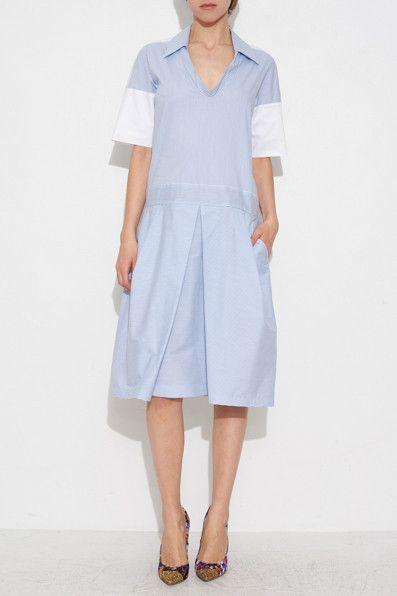 DROP WAIST DRESS BY JIL SANDER NAVY | SHOPHEIST.COM