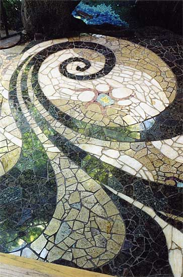 17 best images about spiral stone patios on pinterest gardens pathways and bricks - Basics mosaic tiles patios ...