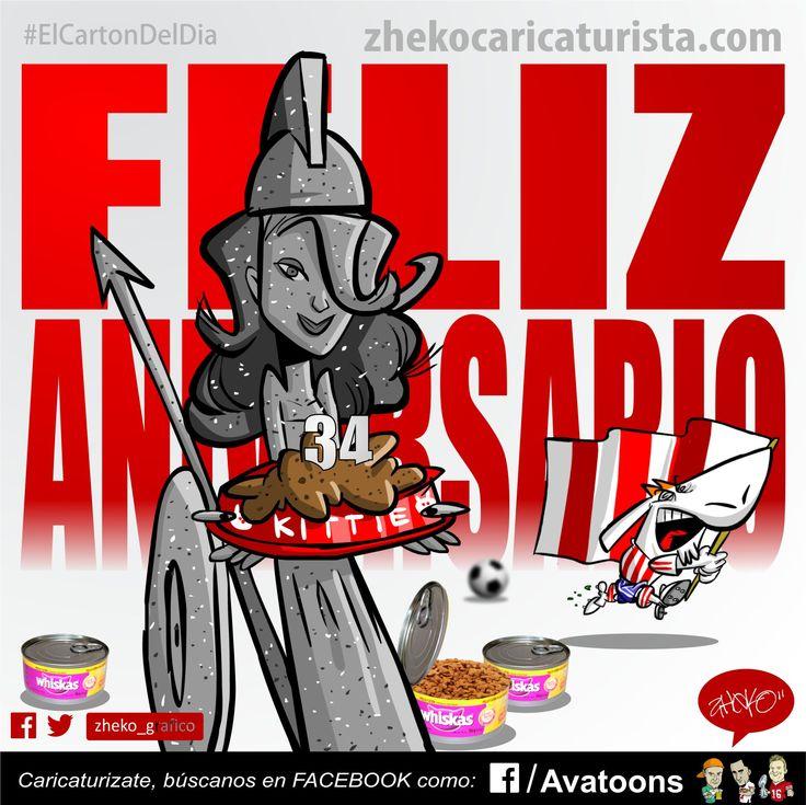 """""""FELIZ ANIVERSARIO"""" www.zhekocaricaturista.com El cartón del día, caricaturas deportivas, zheko, zheko_grafico, haz tu caricatura, como hacer mi caricatura, caricaturas personalizadas, humor, funny, quiero mi caricatura, Liga Mx, Futbol Mexicano, chivas, pumas, chivas vs pumas."""