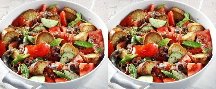 Καλοκαιρινή νόστιμη σαλάτα by Άκης Πετρετζίκης!  Συστατικά 250 γρ. ψωμί (όπως τσιαπάτα) 3-4 μέτριες ντομάτες 1 μικρό αγγουράκι 1 σκ. σκόρδο, ψιλ...