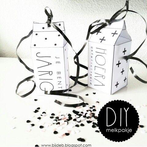 Leuke DIY melkpakjes met free downloads ღ www.bijdeb.blogspot.com