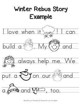 Printables Kindergarten Story 1000 images about rebus stories on pinterest the shorts winter story free