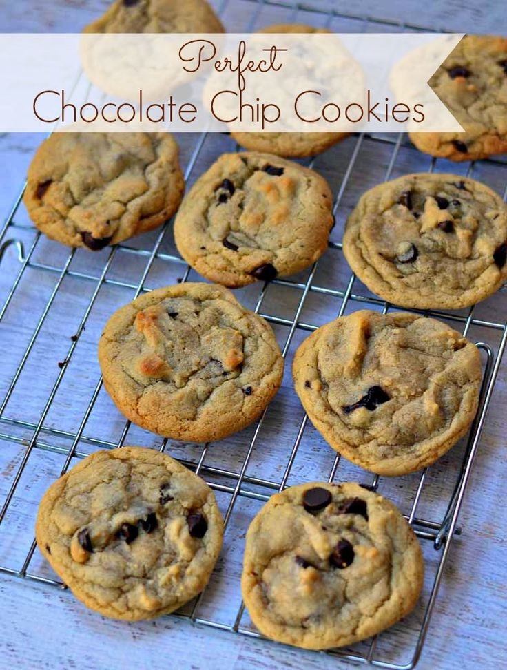 Perfect Chocolate Chip Cookies #recipe from Growing Up Gabel makes soft, chewy cookies every time! #cookies