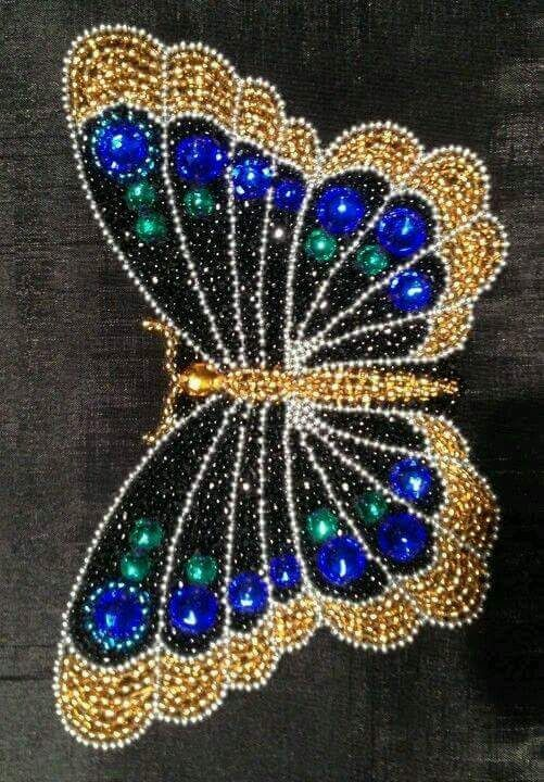 Such a glam seed bead butterfly! It really sparkles.