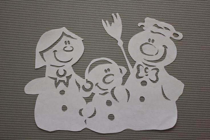 ЖИЗНЬ ПРЕКРАСНА - блог Наталии Юшковой.: Новогодние украшения из бумаги на окна. Часть 3.