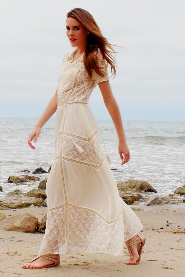 100 Casual Bohemian Wedding Dresses Cold Shoulder Dresses For