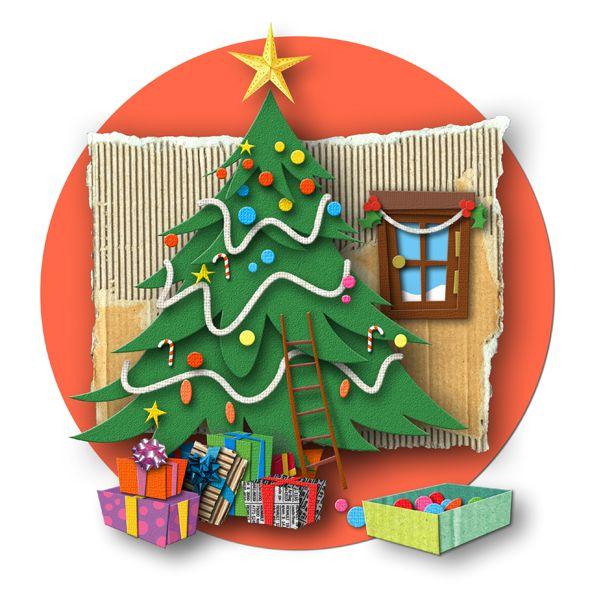 280 besten illustrations christmas tree bilder auf. Black Bedroom Furniture Sets. Home Design Ideas