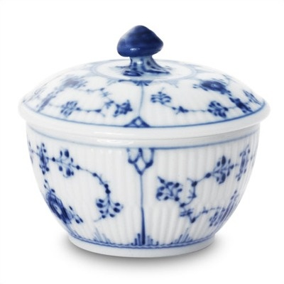 Royal Copenhagen Blue Fluted Plain 5.25 Oz Sugar Bowl