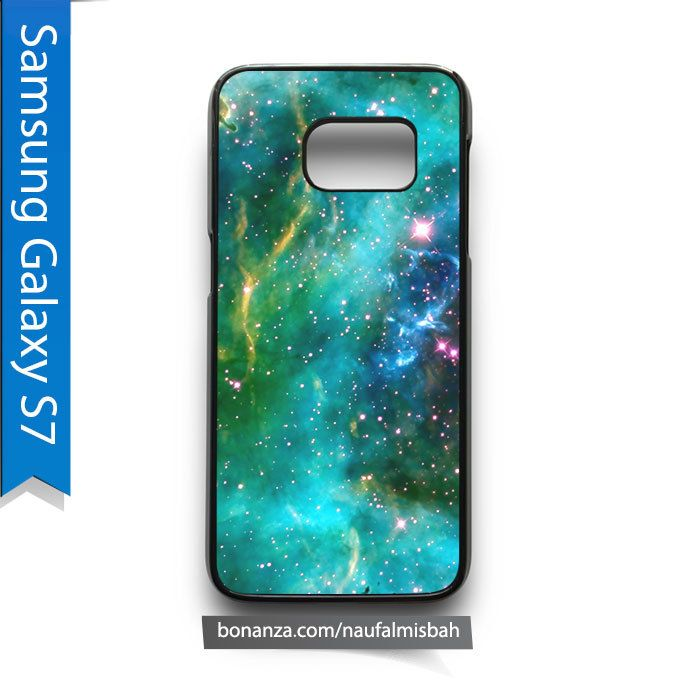 Green Outer Space Nebula Samsung Galaxy S7 Case Cover