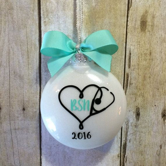 BSN Gift For Nurse, Nurse Ornament, Nursing Graduation Gift, Nurse Graduation, Personalized Stethoscope Accessories, Nurse Gift Ideas