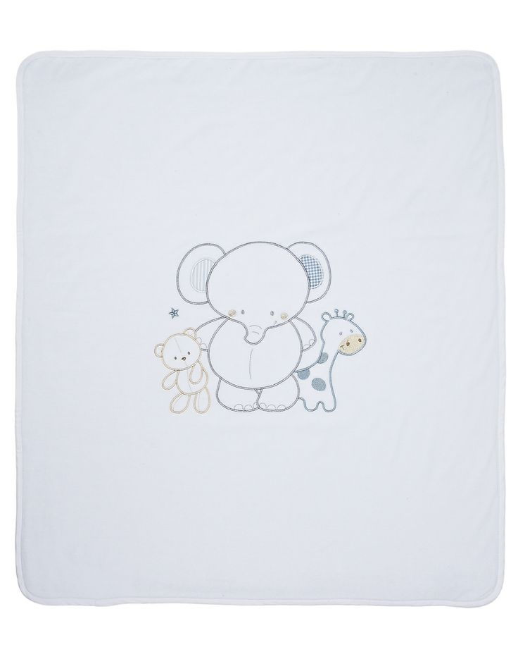Prenatal - Novità e Offerte - Prenatal - Coperta doppia per culla e carrozzina, in ciniglia e tessuto cimato