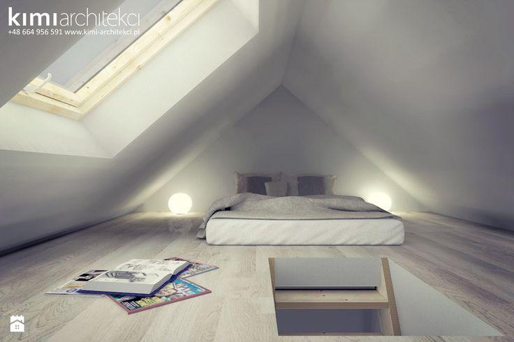 projekt sypialni na poddaszu - zdjęcie od KIMI architekci - Sypialnia - Styl Minimalistyczny - KIMI architekci