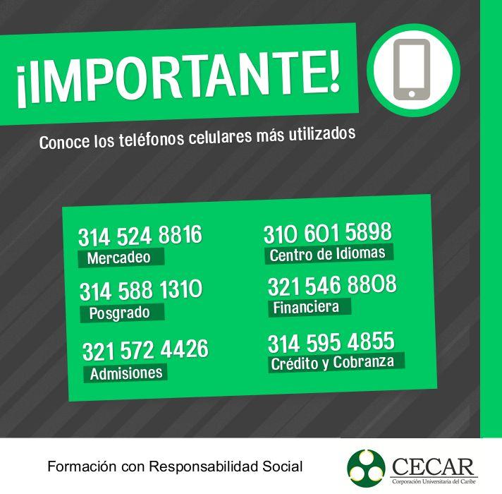 ¡Comunícate más fácil! Conoce los teléfonos celulares más utilizados en las dependencias de CECAR.