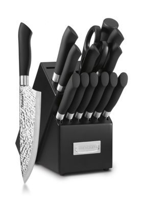 Cuisinart 15 Piece Stainless Steel Cutlery Block Set   Black   One Size