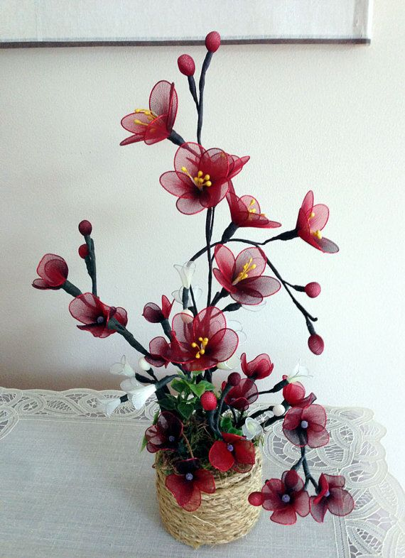 Handmade Nylon Flower Arrangement от LiYunFlora на Etsy