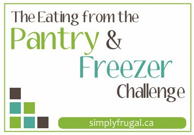 The Eating from the Pantry & Freezer Challenge starts today!  Come see what my goals are for the challenge as well as my menu for the week.