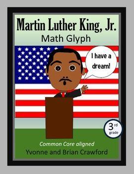 Martin Luther King, Jr. Math Glyph for 3rd grade - $