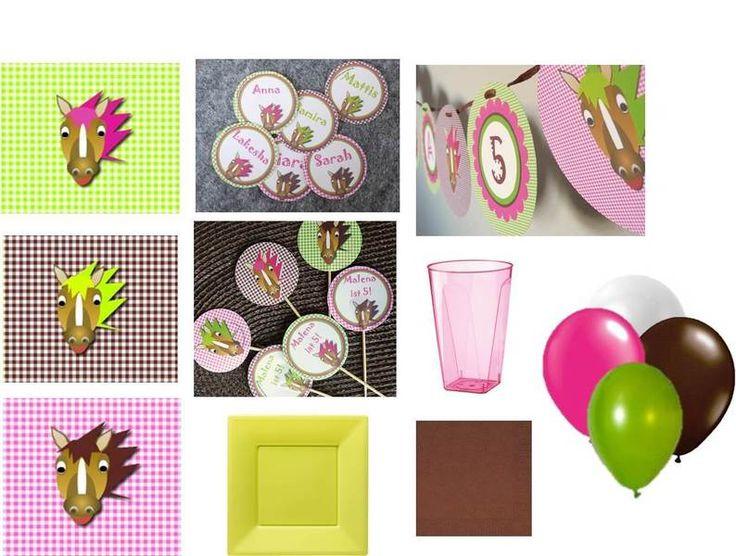 Dekoration - PFERDE Basis Party-Set - ein Designerstück von DasPartyAtelier bei DaWanda
