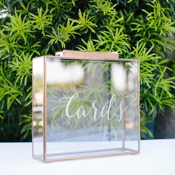 This beautiful card box is a perfect way to collect your wedding cards. The door latch is discreetly located so the box looks seamless. The slot is the perfec