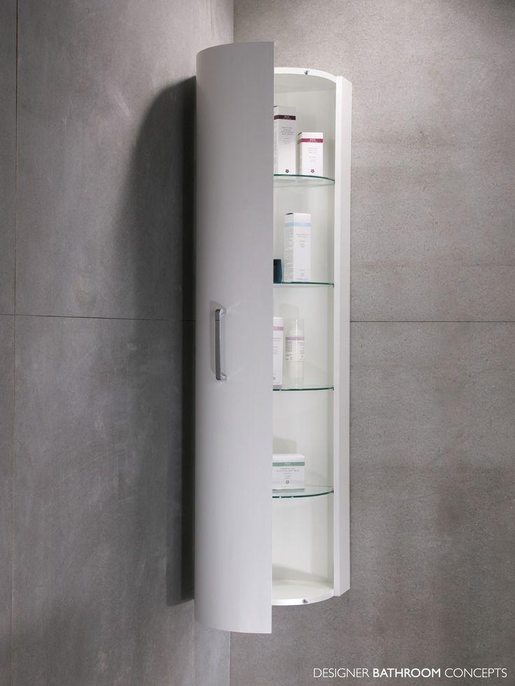 Furniture for bathroom design using corner white wood glass shelf bathroom  storage cabinet wall mount and grey concrete bathroom wall  Fascinating  bathroom. 82 best Bathroom images on Pinterest   Bathroom ideas  Bathroom