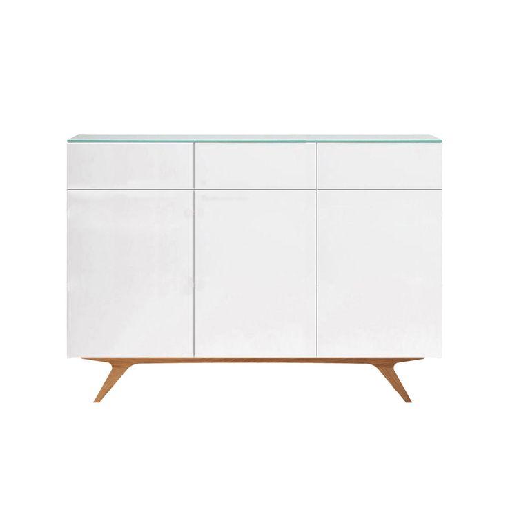 Arctic 50 Sideboard 3D & 3L, Vit Högglans - Rolf Fransson - Voice - RoyalDesign.se #voice #furniture #Design #royaldesign