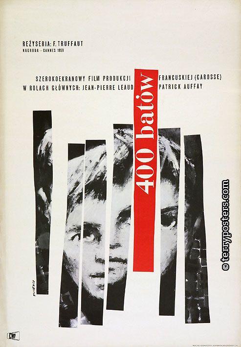 The 400 Blows (François Truffaut, 1959) Polish design by Waldemar Swierzy