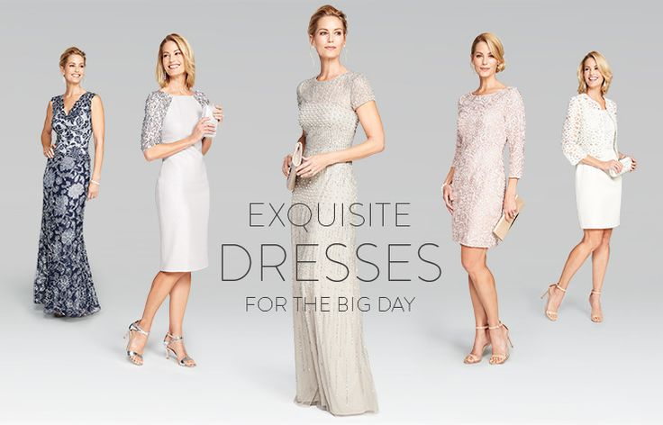 Exquisite mother-of-the-bride dresses for the big day.