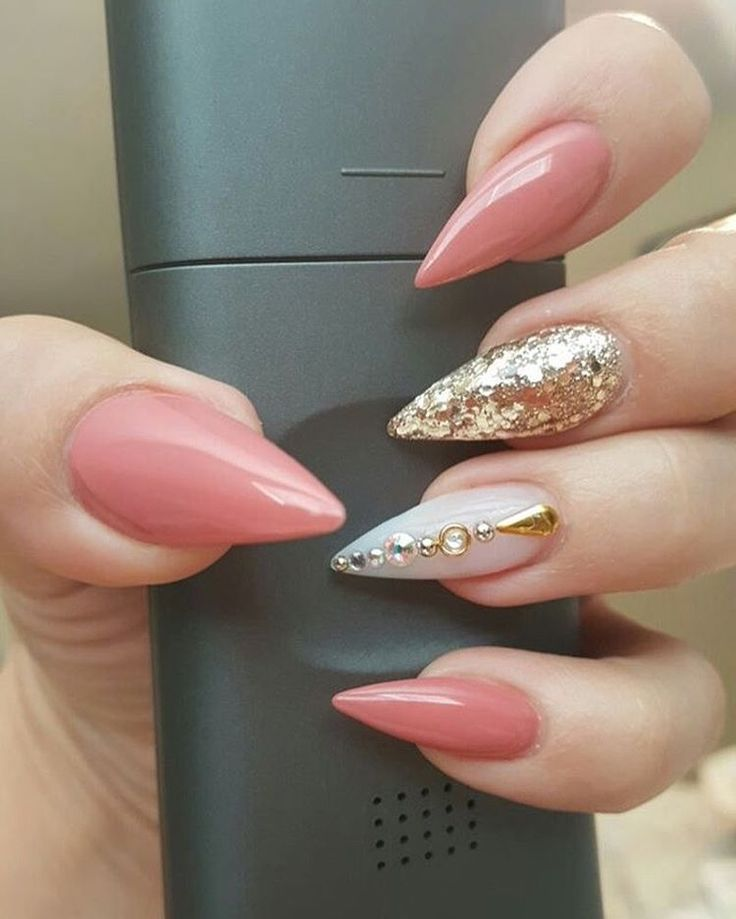Almond Nails. Acrylic Nails. - Best 25+ Cute Almond Nails Ideas On Pinterest Stiletto Nails