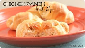 Chicken Ranch Roll-Ups | Six Sisters' Stuff