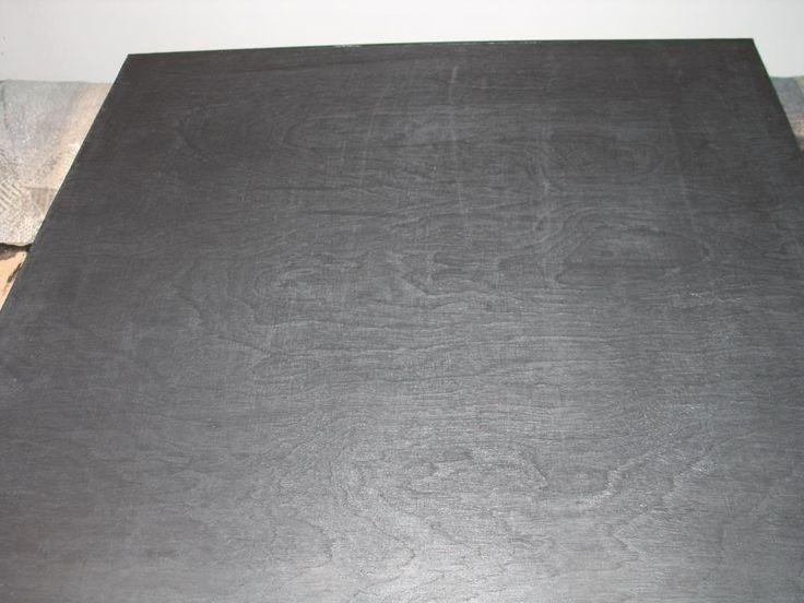 Dark Grey Stain Stained Birch Plywood Condo Decor